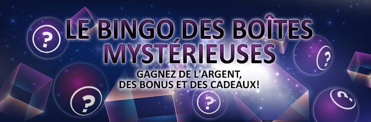 Jeu des boites sur Online Bingo