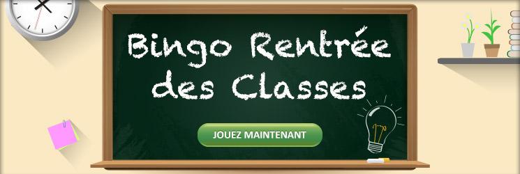 Septembre : rentrée des classes et du bingo
