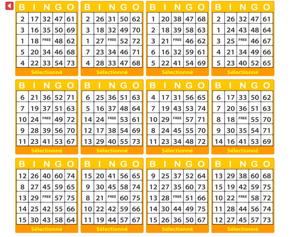 salle bingo valise en or