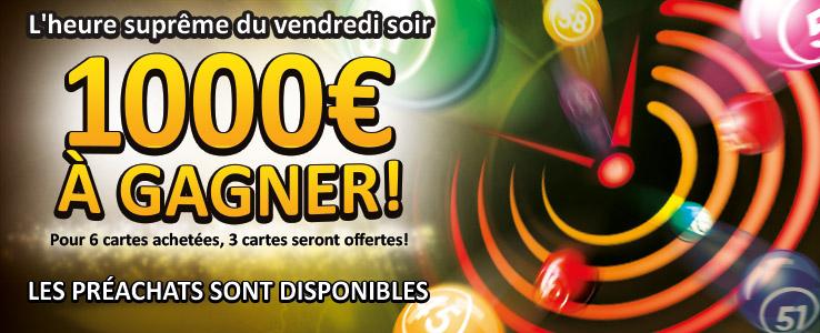 Carton plein 1000€ à gagner