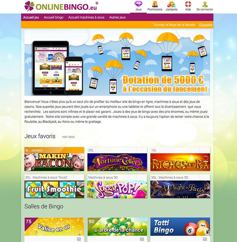 capture nouveau site online bingo